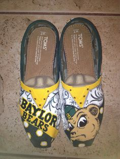Baylor University hand painted TOMS on Etsy, $120.00