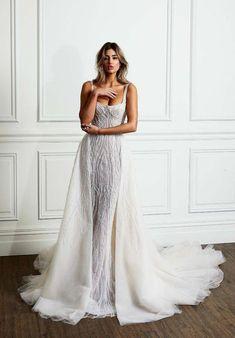 Overskirt Wedding Dress | Pallas Couture La Blanché Bridal Collection | ElegantWedding.ca #weddingplanner #coutureweddingdresses