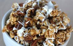 Cinnamon Roll Popcorn-this is the best recipe ever. It was a big hit last Christmas as gifts for friends and neighbors.