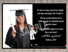Personalized Graduation Thank You Notes - Let's Celebrate - 8398 ...