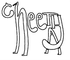Lineart Alphabet Cheetah As Seen On TV - Clear Stamp