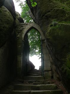 Steps & Gate to Valdstejn Castle near Turnov, Czech Republic ✯ ωнιмѕу ѕαη∂у