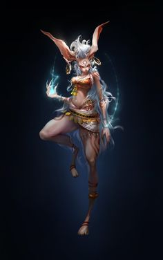 Lopita Original Form (Part of the Holy beast Clan) A.A the white haired beasts Female Character Design, Character Design References, Character Design Inspiration, Character Concept, Character Art, Character Ideas, Dnd Characters, Fantasy Characters, Female Characters