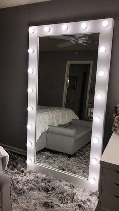 Tall Dream Vanity Tall Dream Vanity – Buy Dream Vanities - New Ideas Room Ideas Bedroom, Small Room Bedroom, Bedroom Decor, Big Mirror In Bedroom, Neon Bedroom, Beauty Room Decor, Makeup Room Decor, Makeup Rooms, Cute Room Decor