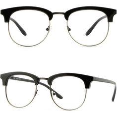 Browline Plastic Mens Womens Frames Prescription Glasses Polarized RX Sunglasses #Unbranded