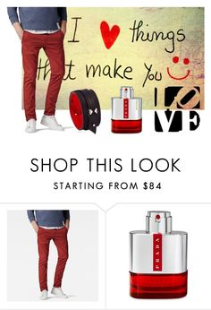 """""""RedIsLove"""" by fahira-1 ❤ liked on Polyvore featuring G-Star Raw, Prada, Anonyme, men's fashion and menswear"""