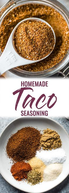 This Homemade Taco Seasoning recipe is made without any fillers, preservatives, added sugar or weird ingredients – just a delicious blend of Mexican spices and herbs to get your taco party started! Homemade Spices, Homemade Taco Seasoning, Seasoning Mixes, Taco Seasoning Recipe Without Chili Powder, Taco Seasoning Recipe Pioneer Woman, Sugar Free Taco Seasoning Recipe, Gourmet Recipes, Mexican Food Recipes, Gastronomia