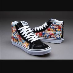 Disney Vans Princess high tops Brand new with tags! I paid about $70 with shipping for them so the lowest I can sell them is $50, please don't ask for less!(unless bundled) they are women's size 7.5/mens size 6. Vans Shoes Sneakers