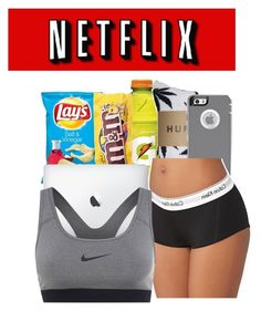 """Netflix night"" by honey-cocaine1972 ❤ liked on Polyvore featuring HUF, Calvin Klein and NIKE"