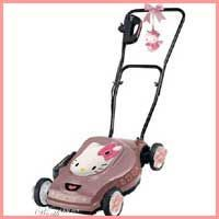Maybe I would mow the lawn more if I had a cool hello kitty lawn mower lol, I wouldn't want to get it all grassy though Hello Kitty Merchandise, Indie, Ps I Love, Hello Kitty Collection, Maneki Neko, Halloween Disfraces, Love Pictures, Cool Cats, Sanrio