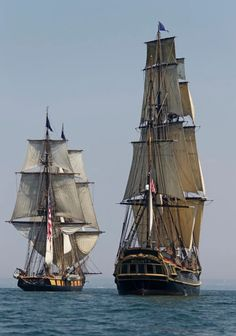 'Master and Commander' Tall Ships. Moby Dick, Hms Bounty, Old Sailing Ships, Model Sailing Ships, Ship Of The Line, Wooden Ship, Ship Art, Wooden Boats, Tall Ships
