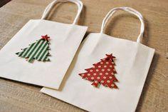 holiday gift bags christmas gift bags christmas by oscarandollie, $15.00