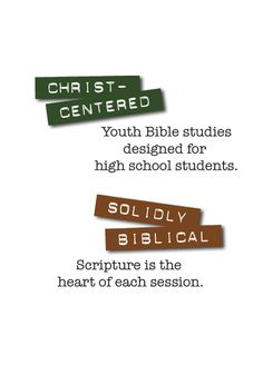 """Teens have questions. God's Word has answers. 