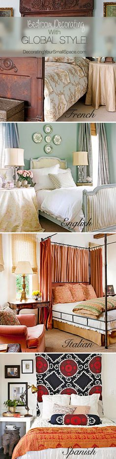 Brighten Up Your Bedroom with a Global Twist! Tips Ideas! Dream Bedroom, Home Decor Bedroom, Bedroom Ideas, Master Bedroom, Shabby Chic, Boudoir, My New Room, Beautiful Bedrooms, My Dream Home