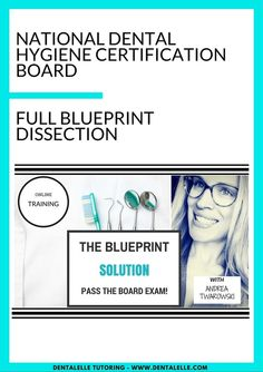 Perfect for those who have taken the board exam before and need detailed studying per category and group.  Includes:  -15+ instructional videos included -25+ worksheets -50+ questions to study and prepare for -Full study review lecture 60+ minutes -FULL PDF on the blueprint explained and dissected -Previous board exam-type questions -Mock exams -10+ case studies ..AND MORE!  Dentalelle Tutoring - Andrea Twarowski