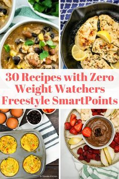 Thirty Zero Point Weight Watchers Recipes that are delicious, easy to make, and have zero points with the new Freestyle SmartPoints program. Find 0 point recipes for breakfast, lunch, dinner, snacks, and desserts.