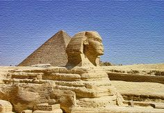 The Great Sphinx and Great Pyramid at Giza:  The ancient Egyptians built pyramids to store their deceased. However, pyramids were also built in other parts of the world, for instance in Mexico.