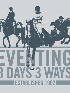 Eventing 3 days 3 ways