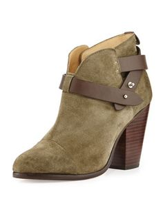 Harrow Nubuck Ankle Boot, Stonewall Green by Rag & Bone at Bergdorf Goodman.