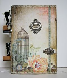 ink pads storage binder - anyone know if that birdcage image is a stamp?  Because I need it.  Yes, for true