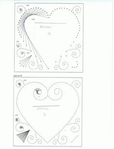 2 heart patterns