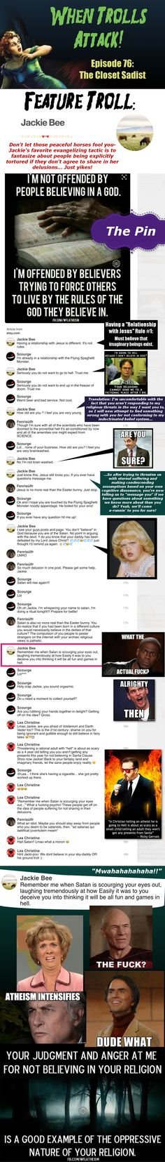 Holy shit Jackie, do we at least get a safe word? [CLICK to enlarge text] For blocking purposes of feature troll: https://www.pinterest.com/Pinteresting2C/