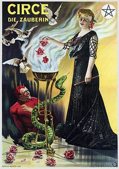 Circe The Sorceress Witch Female Magician Illusionist Vintage Magic Posters Prints