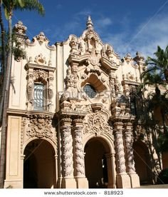 Beautiful Spanish architecture from about 1700s Balboa park San