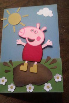 peppa pig punch art card