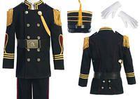 Bijan Kids Boys Suit Style CAD626- BLACK Boys Cadet Suit with Matching Hat