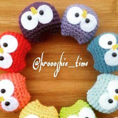 لعبة البومه كروشيه crochet owl doll