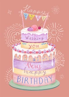 Leading Illustration & Publishing Agency based in London, New York & Marbella. Birthday Wishes For Kids, Happy Birthday Wallpaper, Happy Birthday Wishes Cards, Birthday Wishes And Images, Birthday Blessings, Happy Birthday Pictures, Happy Birthday Sister, Birthday Cards, Birthday Parties