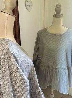 Tunique, blouse en coton taille M : Chemises, blouses par realisa