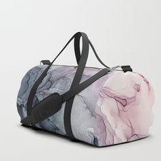 Blush and Payne's Grey Flowing Abstract Painting Duffle Bag by elizabethschulz Duffel Bag, Tote Bag, Bags Game, Workout Aesthetic, Fitness Aesthetic, Cute Gifts, Travel Bags, Gym Bag, Shoulder Strap