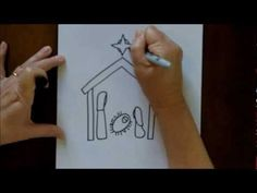 How to Draw a Nativity Scene, animals, etc - Simple and Easy Drawing Tutorial for Beginners