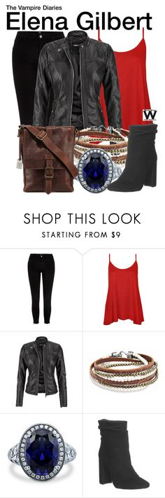 """The Vampire Diaries"" by wearwhatyouwatch ❤ liked on Polyvore featuring River Island, WearAll, maurices, Platadepalo, BERRICLE, Office, Frye, television and wearwhatyouwatch"