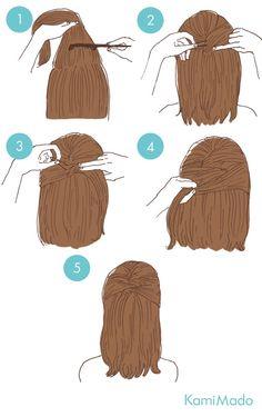 High Ponytail Hairstyles, Fast Hairstyles, Cute Simple Hairstyles, Hairdo Wedding, Soft Hair, Grunge Hair, Hair Hacks, Hair Inspiration, Curly Hair Styles