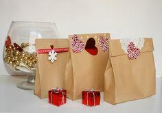 DIY: Bolsas para Navidad de cartón | Aprender manualidades es facilisimo.com