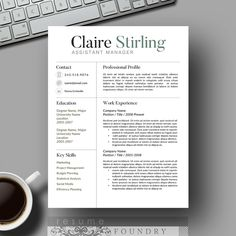 Creative Resume Template / CV Template Cover by ResumeFoundry