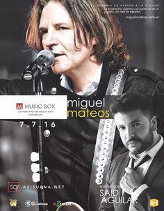 Miguel Mateos en concierto!! 7 de Julio en The Music Box $33 8pm