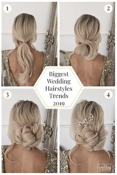 30 Wedding Hairstyles 2019 Ideas ❤ We have collected wedding makeup ideas based on the wedding fashion week. Look through our gallery of wedding hairstyles 2019 to be in trend! Wedding Hairstyles Tutorial, Wedding Guest Hairstyles, Bun Hairstyles For Long Hair, Sleek Hairstyles, Trending Hairstyles, Diy Hairstyles, Bridal Hair Tutorial, Fashion Hairstyles, Bridal Hairstyles