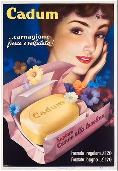 Sapone alla lanolina Cadum - 1953
