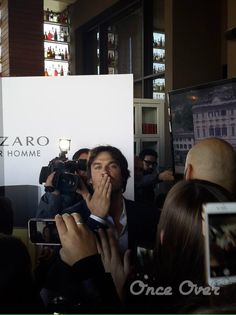 Ian Somerhalder at Promotional event for INTENSE by #AZZAROPOURHOMME in Chile (05/06/15)