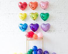 Event and party decor with Parisian flair by Engagement Party Decorations, Balloon Decorations Party, Love Balloon, Balloon Wall, Heart Balloons, Rainbow Heart, Birthday Love, Wedding Balloons, Latex Balloons
