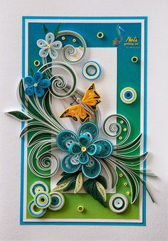 *QUILLING ~ by: neli: Quilling cards /14.8 cm- 10.5 cm/