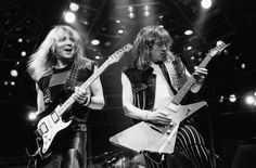 Dave Murray & Adrian Smith (World Piece Tour - Rock And Roll Bands, Rock N Roll, Dave Murray, Iron Maiden Band, Adrian Smith, Bruce Dickinson, Power Metal, Great Bands, Metal Bands