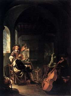 Frans van Mieris - Atelier van de schilder