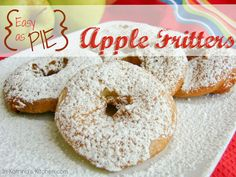 Easy as Pie Apple Fritters by In Katrina's Kitchen - bakedbyrachel.com