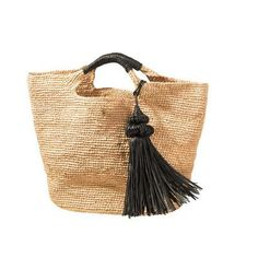 Shop from the best fashion sites and get inspiration from the latest tassel raffia bag. Fashion discovery and shopping in one place at Wheretoget. My Bags, Purses And Bags, Sacs Tote Bags, Ethno Style, Ethnic Bag, Basket Bag, Crochet Purses, Summer Bags, Clutch