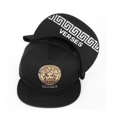 Gold Silver Hip Hop Snapback Caps Medusa Print Hats Korean Street Fashion Black